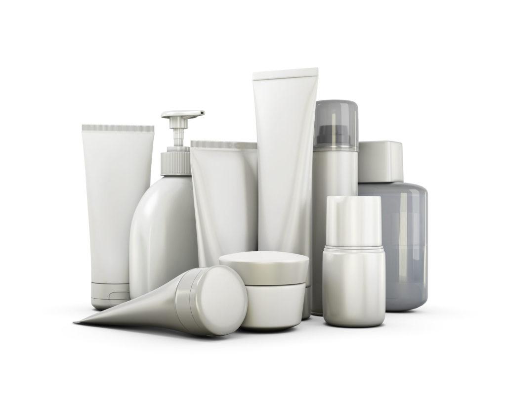 cosmetics set on a white background. 3d illustration