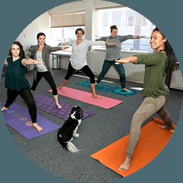 yoga class at Nourish